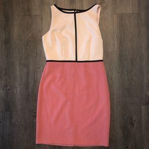 LOFT color block pencil dress